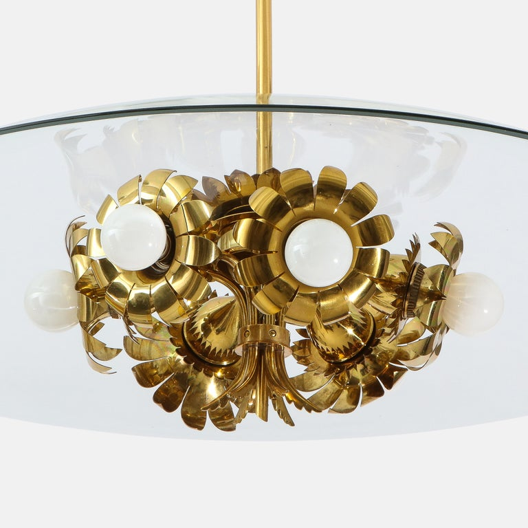 Pietro Chiesa for Fontana Arte Rare Chandelier In Good Condition For Sale In New York, NY