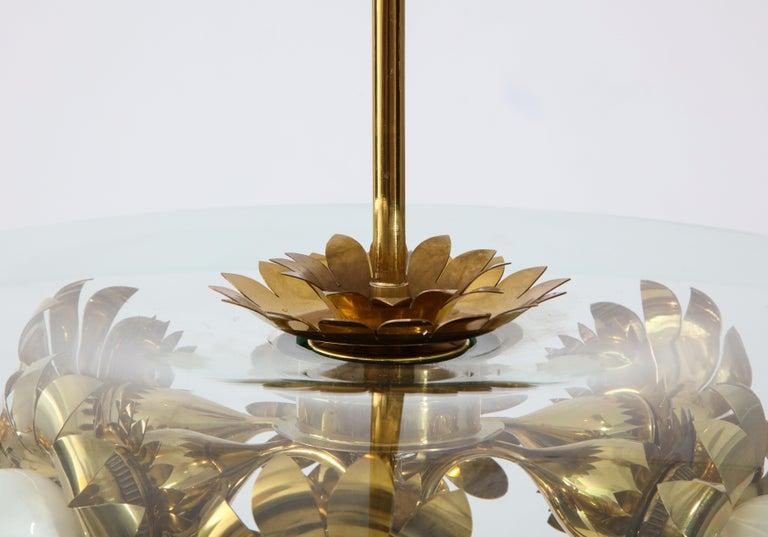 Glass Pietro Chiesa for Fontana Arte Rare Chandelier For Sale