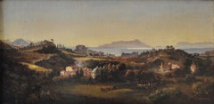 LANDSCAPE - Italian oil on canvas painting, Pietro Colonna