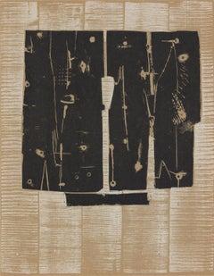 1959 Pietro Consagra 'Layers' Modernism Brown,Black Lithograph