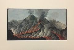 "Landscape ""Campi Phlegraei - Plate X-2"" Volcanos - By Hamilton-Fabris"