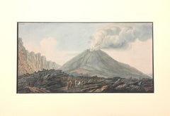 "Landscape ""Campi Phlegraei - Plate XXXIII"" Naples - By Hamilton-Fabris"