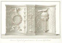 Ara con Tripode - Original Etching by V. Feoli After B. Nocchi - 1821