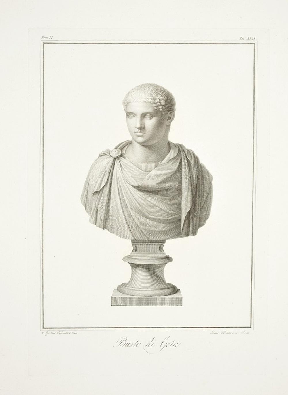 Bust of Geta - by P. Fontana - 1821