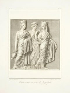 Cities with Towers in the Act of Sacrifice-by A. Mochetti After B. Nocchi - 1821