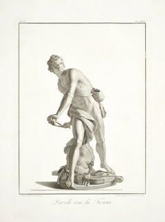 David with the Sling - Etching by A. Campanella After S. Tofanelli - 1821