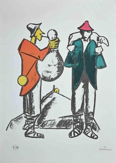 The Shepherd - Original Lithograph by Pietro Morando - 1960s