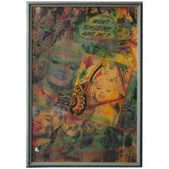 Pietro Psaier Marilyn Monroe Mixed-Media on Wood, California, 1986