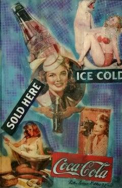 "Pop Art, ""1972 Coca Cola Concept"", certificate of authenticity, Mixed Media"
