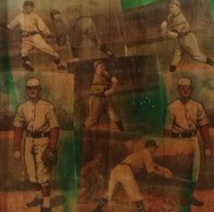 "Pop Art, ""Baseball Series"", original Mixed Media on Fruitwood"