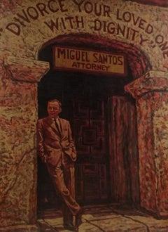 """Pop Art, """"Frank Sinatra - Divorce from Ava Gardner"""", original Mixed Media"""