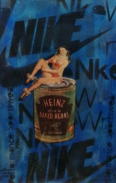 """Pop Art, """"Heinz Baked Beans - 57 Types of Pretty Young Things"""", Mixed Media"""