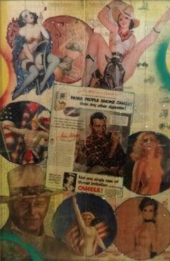 "Pop Art, ""John Wayne's Camel Promo"", certificate of authenticity, Mixed Media"