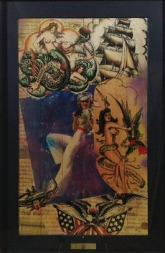 "Pop Art, ""Ship Ahoy"" - Hello Sailor Series, certificate of authenticity"