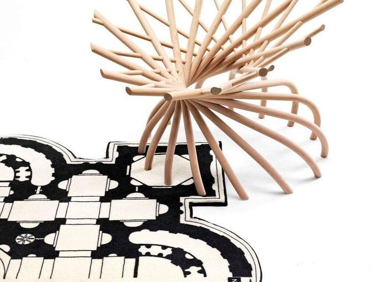 Modern Pietro Square Rug by Muraepezza & Mogg For Sale