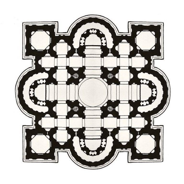 Pietro Square Rug by Muraepezza & Mogg For Sale