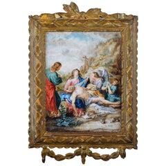 """""""Piety"""". Oil on Board. Italian School, 18th Century"""