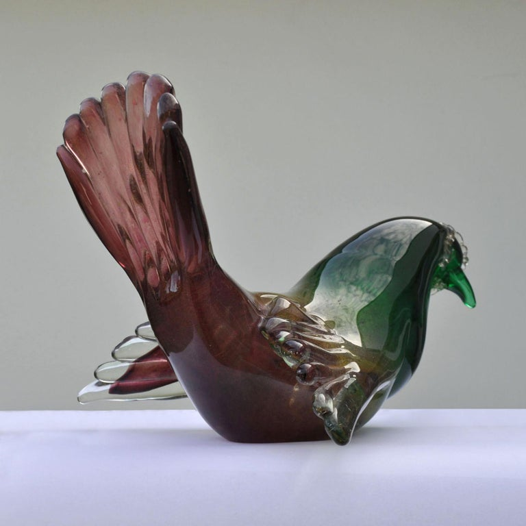 Italian Pigeon Attributed to Seguso, 1950s, Italy For Sale