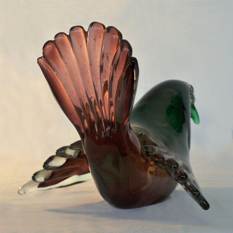 Pigeon Attributed to Seguso, 1950s, Italy For Sale 2