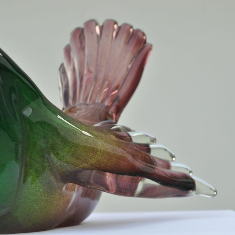 Mid-20th Century Pigeon Attributed to Seguso, 1950s, Italy For Sale