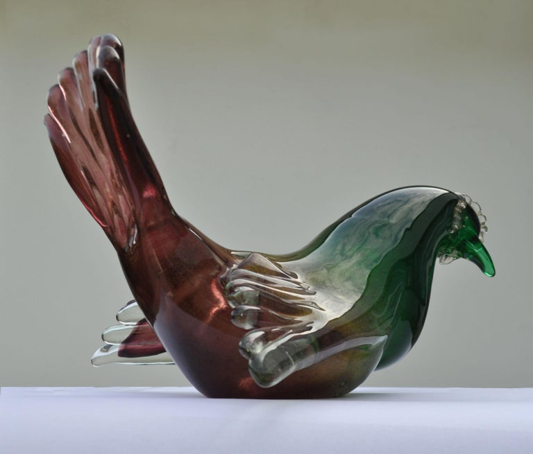 Mid-Century Modern Pigeon Attributed to Seguso, 1950s, Italy For Sale