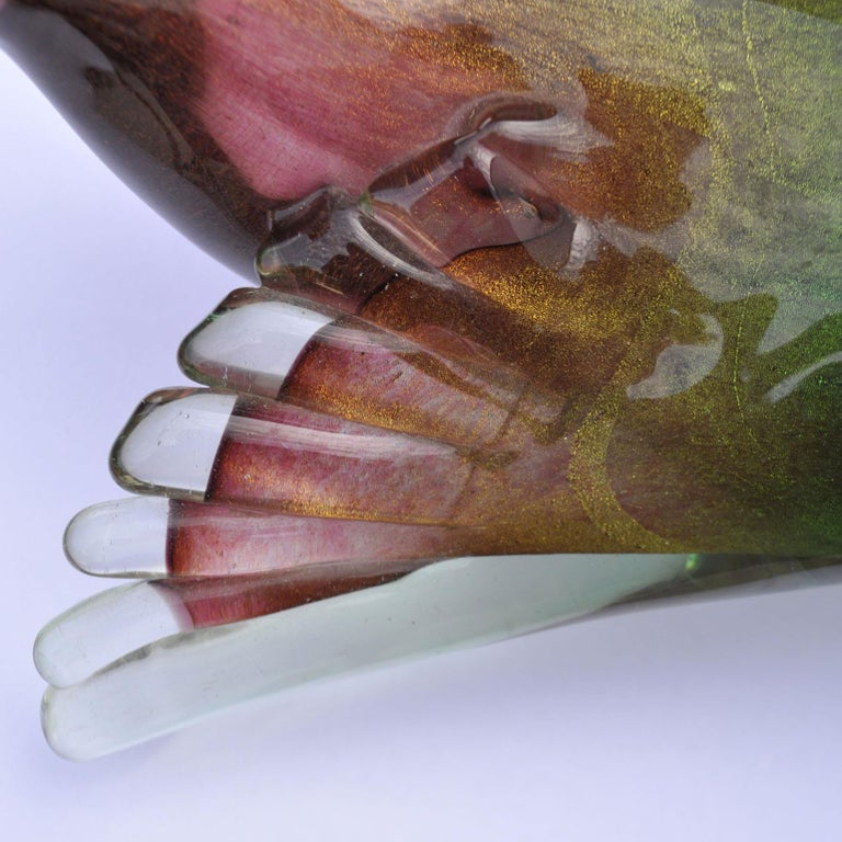 Art Glass Pigeon Attributed to Seguso, 1950s, Italy For Sale