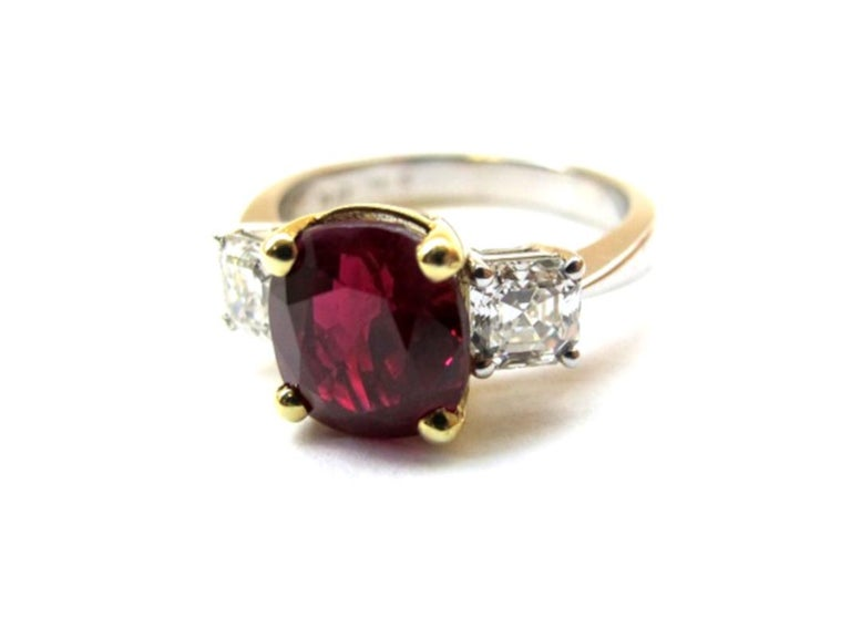 When you buy a ruby, this is the color to aspire to! This Burmese ruby possesses the highly prized
