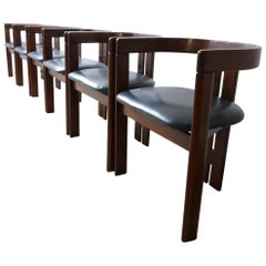 'Pigreco' Italian Midcentury Dining Chairs Attributed to Tobia Scarpa