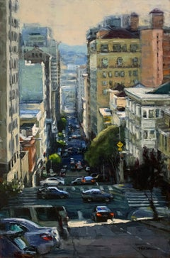 """""""Afternoon Highlights"""" Colorful Street Scene of San Francisco"""