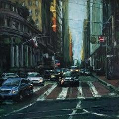 """Montgomery Street"" Contemporary Impressionist Scene of San Francisco"