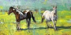 """""""Utah Horses"""" Contemporary Impressionist Scene"""