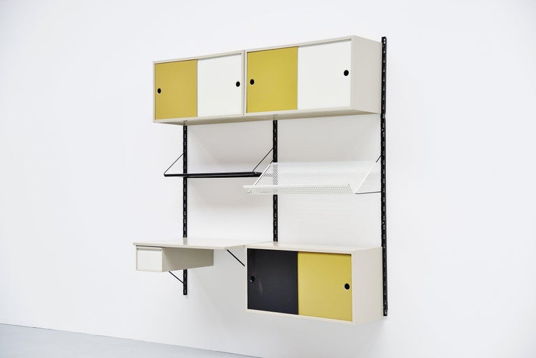 Mid-Century Modern Pilastro Wall Unit Double Tjerk Reijenga, Holland, 1960 For Sale