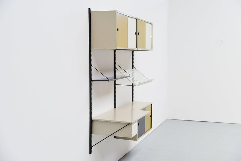 Cold-Painted Pilastro Wall Unit Double Tjerk Reijenga, Holland, 1960 For Sale