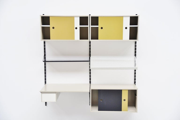 Pilastro Wall Unit Double Tjerk Reijenga, Holland, 1960 In Good Condition For Sale In Roosendaal, Noord Brabant