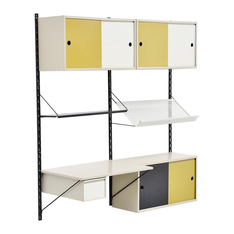 Pilastro Wall Unit Double Tjerk Reijenga, Holland, 1960 For Sale