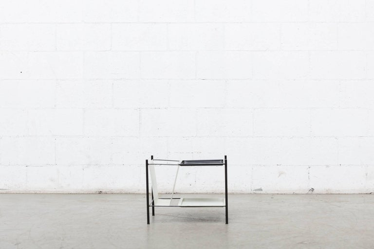 Mid-Century Modern Pilastro Wire Magazine Rack and Side Table For Sale