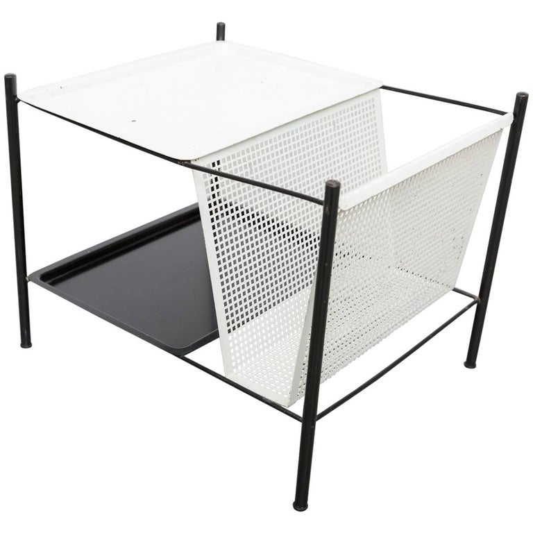 Pilastro Wire Magazine Rack and Side Table For Sale