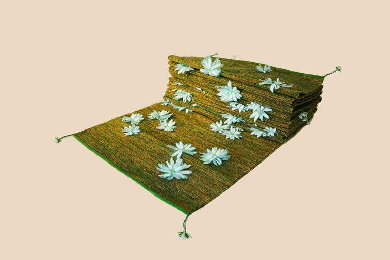 Pilgrimage rug by Lilia Cruz Corona Garduño Series: White Dimensions: 23.8'' x 2.6 '' x 32.8