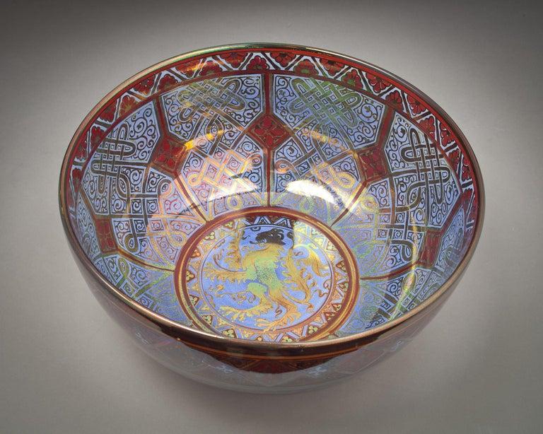 English Pilkingtons Royal Lancastrian Bowl, by W.M.S Mycock, 1918 For Sale