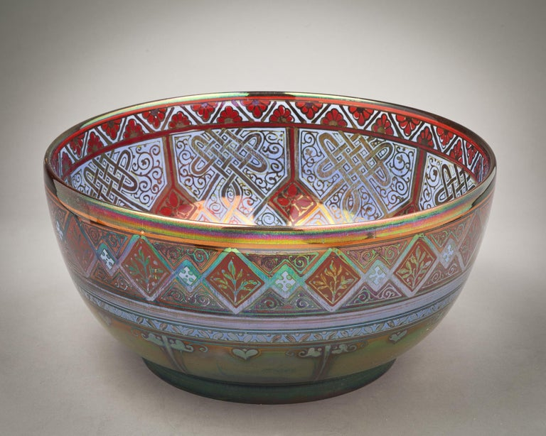 Pilkingtons Royal Lancastrian Bowl, by W.M.S Mycock, 1918 In Excellent Condition For Sale In New York, NY