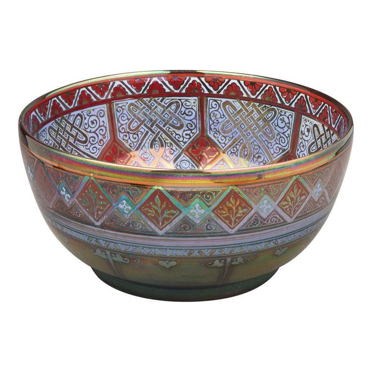 Pilkingtons Royal Lancastrian Bowl, by W.M.S Mycock, 1918 For Sale