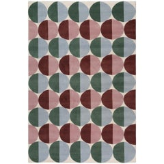 Pill Bright Hand-Knotted Area Rug in Wool by The Rug Company