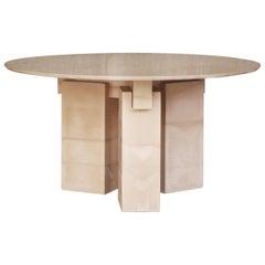 Pillars Massive Concrete Dinner Table