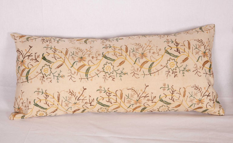 Suzani Pillow Cases fashioned from a 19th Century Ottoman Embroidery For Sale