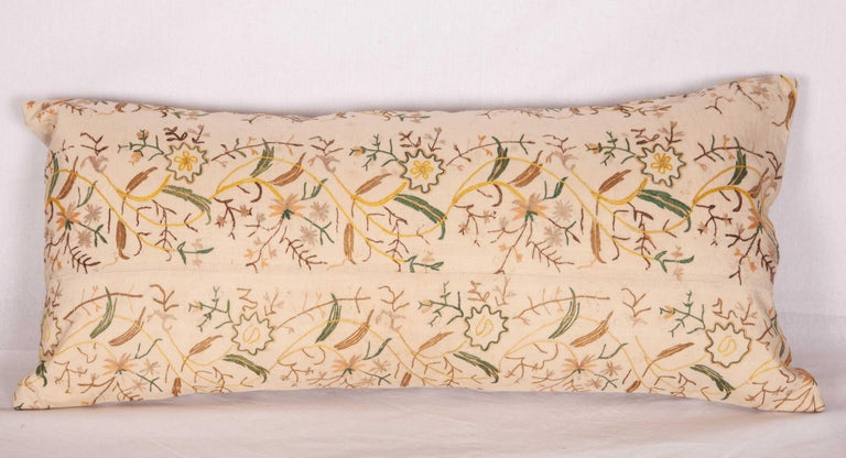 Turkish Pillow Cases fashioned from a 19th Century Ottoman Embroidery For Sale