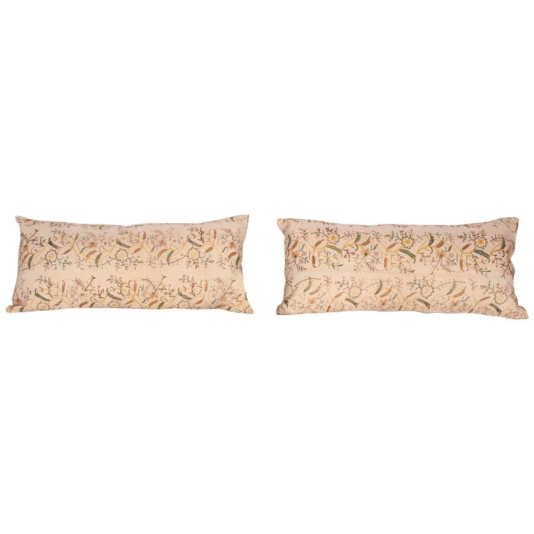 Pillow Cases fashioned from a 19th Century Ottoman Embroidery For Sale