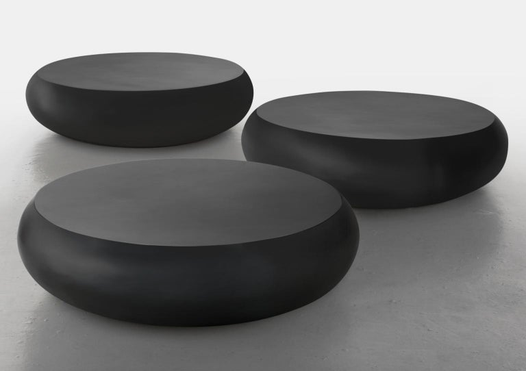 Modern 21st Century Verter Turroni Black Fibreglass Coffee Table Seat Outdoor Furniture For Sale