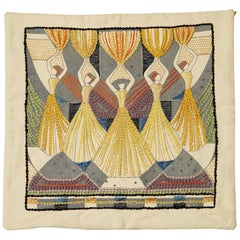 Pillow Case by Ilse Claesson, Sweden, 1930s