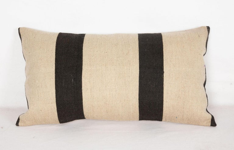 Kilim Pillow Case Fashioned from a Contemporary Wool Weaving For Sale