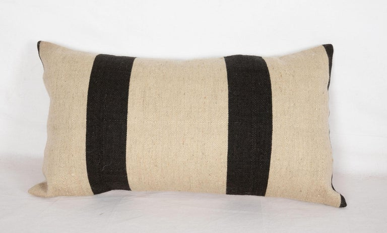 Turkish Pillow Case Fashioned from a Contemporary Wool Weaving For Sale